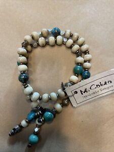 Authentic M.Cohen Wrap Bracelet Sterling Silver And Stones
