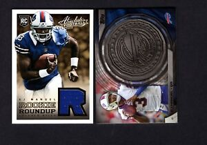 2013 Absolute Jersey #5 & 2014 Topps Kickoff Coin #NFLKCEA EJ Manuel B91A 092