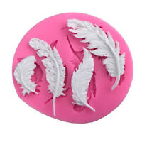 Feather Silicone Fondant Mold Cake Decorating Tools Chocolate Gumpaste Moulds QK