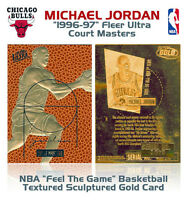 1996 MICHAEL JORDAN Fleer Court Masters * FEEL THE GAME * Ltd. NBA 23K GOLD Card