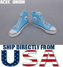 "1/6 Converse All Star Style Sneakers BLUE For 12"" Male Figure - U.S.A. SELLER"