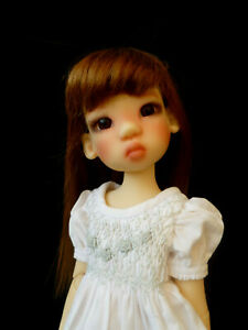 "Kaye Wiggs Mini MIKI Fair Freckles 14"" Resin BJD Doll"