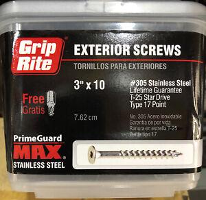 Grip-Rite #10 x 3 in. Stainless Steel Deck Screw (5 lb-Pack)