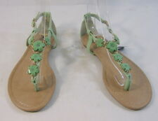 Summer Green Womens Shoes Roman Gladiator Sandals Size 8