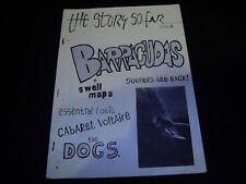 THE STORY SO FAR #1 (1979) Rare UK Punk Fanzine Cabaret Voltaire Barracudas Dogs