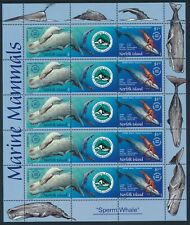 2002 Norfolk Island-New Caledonia Sperm Whale Joint Issue Sheetlet Fine Mint Mnh