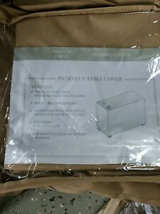 TKC Patio Cup Table Cover in Beige TKC020WC-CUPT-NF new