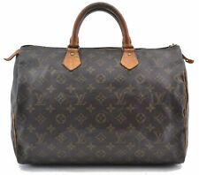 Authentic Louis Vuitton Monogram Speedy 35 Hand Bag M41524 LV B4657