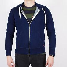 Levi's Original Plain Zip Herren Indigo blau Hoodie S