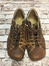 DR. MARTENS Tan Brown Comfort Front Tie Men's 10 M Shoes Loafers