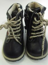 NEU Schuhe Schnür - Stiefel synthet. Leder Fleecefutter Gr. 22 Jungen Marke #330