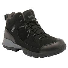 Regatta Men's Trail Holcombe Mid Walking BOOTS 8 UK Black / Granite