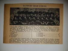 Danbury High School & Bristol HS Connecticut 1928 Football Team Picture