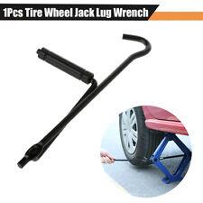 1x Car Handle Scissors Jack Lug Wrench Black Iron Wheel Tire Change Repair Tool