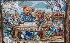 """Boyds Bears NOAH'S ARK Throw Blanket 1996 70"""""""