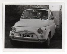 PHOTO ANCIENNE N&B - Automobile Voiture Auto FIAT 500 Vers 1960-1970