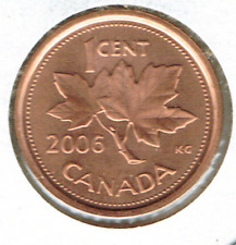 2006 Logo Canadian Brilliant Uncirculated Copper-Plated Zinc One Cent Coin!