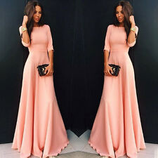 Women Chiffon Cocktail Formal Dress Party Bridesmaid Evening Gown Maxi Dress Hot