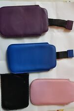 3 soft leather Blackberry curve pouches
