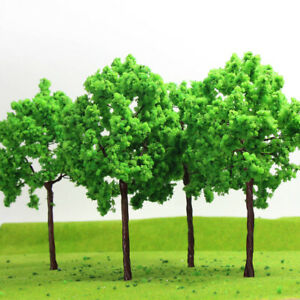 G16090 4-16pcs G O Scale 1:43 Model Tree Light Green Railway Diorama 16cm