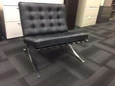 Original Knoll  Barcelona Chair Black Leather Mid Century - 4 available