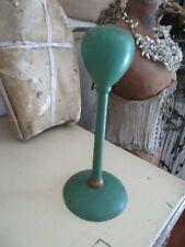 Fabulous Old Vintage Display Wood Hat Stand Crown Holder Original Green Paint