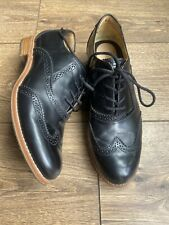VGC Sebago Black Leather Classic Brogues Flats Ladies 6 39