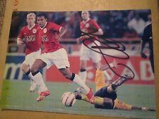 """Kieron Richardson Manchester United signed Football Photo 7x5"""" /bi"""
