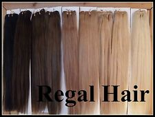 "HUMAN WEAVE/WEFT human hair extensions 20"" 150G #4 Med Brown STRAIGHT REMY"