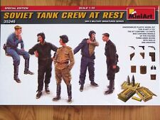 Miniart Special Edition 1:35 Soviet Tank Crew At Rest WWII Figures Model Kit