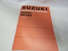 Suzuki RV125 SERVICE MANUAL