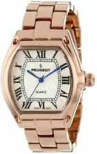 Peugeot Women's Tank Roman Numeral Dress Bracelet Rose Gold Watch 7069RG