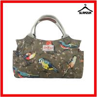Cath Kidston Oilcloth Garden Birds Brown Tote Bag Handbag Bag Everyday Bag