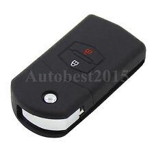 For Mazda 2 Button 3 5 6 Silicone Flip Key Remote Shell Case Cover Holder Black