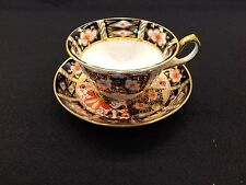 Royal Crown Derby England Traditional Imari #2451 Footed Cup & Saucer Set C.1919
