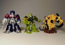 Lote de 3 película Transformers Robot Heroes Optimus Prime Trinquete y Rampage