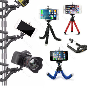 For Apple iPhone 4S Cell Phone Flexible Camera Tripod Gorilla Octopus Mount Hold