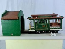 Vintage Music Box with Cable Car - Moves into Building and Back Out Again