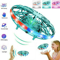 Mini Flying UFO Ball LED Induction Suspension RC Aircraft Drone Helicopter Toys