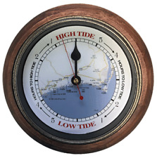 TIDE CLOCK Brunswick Tide #551 Rustic Wood 9 inch frame with glass lens