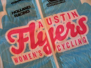 Giordana WindTex Austin Flyers Womens Cycling Jersey Vest M Race Team Blue Italy