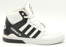 ADIDAS Holite Men US 5M White/Black Leather Basketball Shoes Lace Up