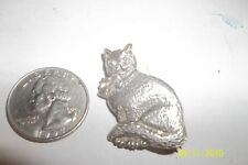 Vintage Sterling Silver Kitty Cat  Brooch