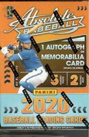 2020 Absolute Baseball Factory Sealed Blaster Box 1 Auto or Relic- Bo Bichette?