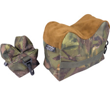 JACK PYKE HUNTING RIFLE REST 2 BAG SET FILL WITH SAND OUTDOOR SHOOTING CAMO