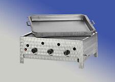 K+F Edelstahl-Gastrobräter (Propan-Gasgrill) mit Grillrost und Pfanne 6cm tief