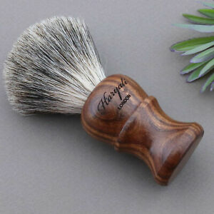 NEW - 100% Original BADGER HAIR SHAVING BRUSH IN WOOD HANDLE