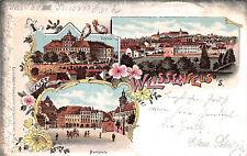 Weissenfels a. / S. Marktplatz Litho Postkarte 1899