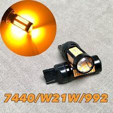 Front Turn Signal light T20 7440 7441 992 W21W 108 SMD LED Amber Bulb W1 JAE