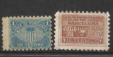 8278-SELLO FISCAL 1930 CAJA PENSIONES VEJEZ AHORRO BARCELONA 1 CENTIMO.revenue